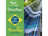 Βραζιλίανικη Αιώρα Βαμβακερή με Κροσια Marina πολύχρωμη αποχρώσεις του μπλε