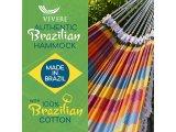 Αιώρα Κλασικη Βαμβακερή από  Βραζιλία Carnival Deluxe πολύχρωμη