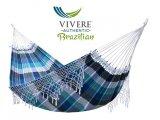Βραζιλίανικη Αιώρα Βαμβακερή Κροσια Marina σε αποχρωσεις του μπλε