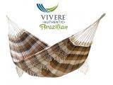 Βραζιλιανικη Αιώρα Κροσια Βαμβακερή Υφασματινη Cafe Vivere BrazilWood